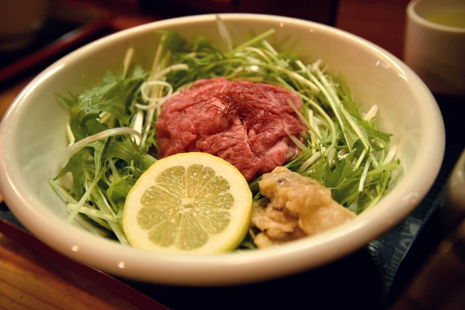 松坂牛麺のアップ