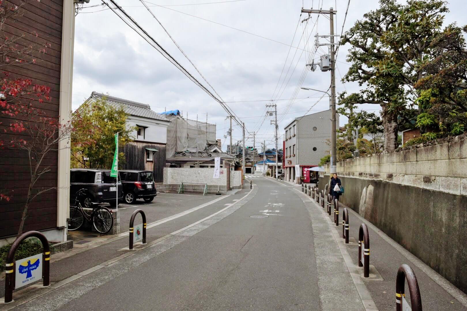 松竹堂 吹田山田本店の駐車場