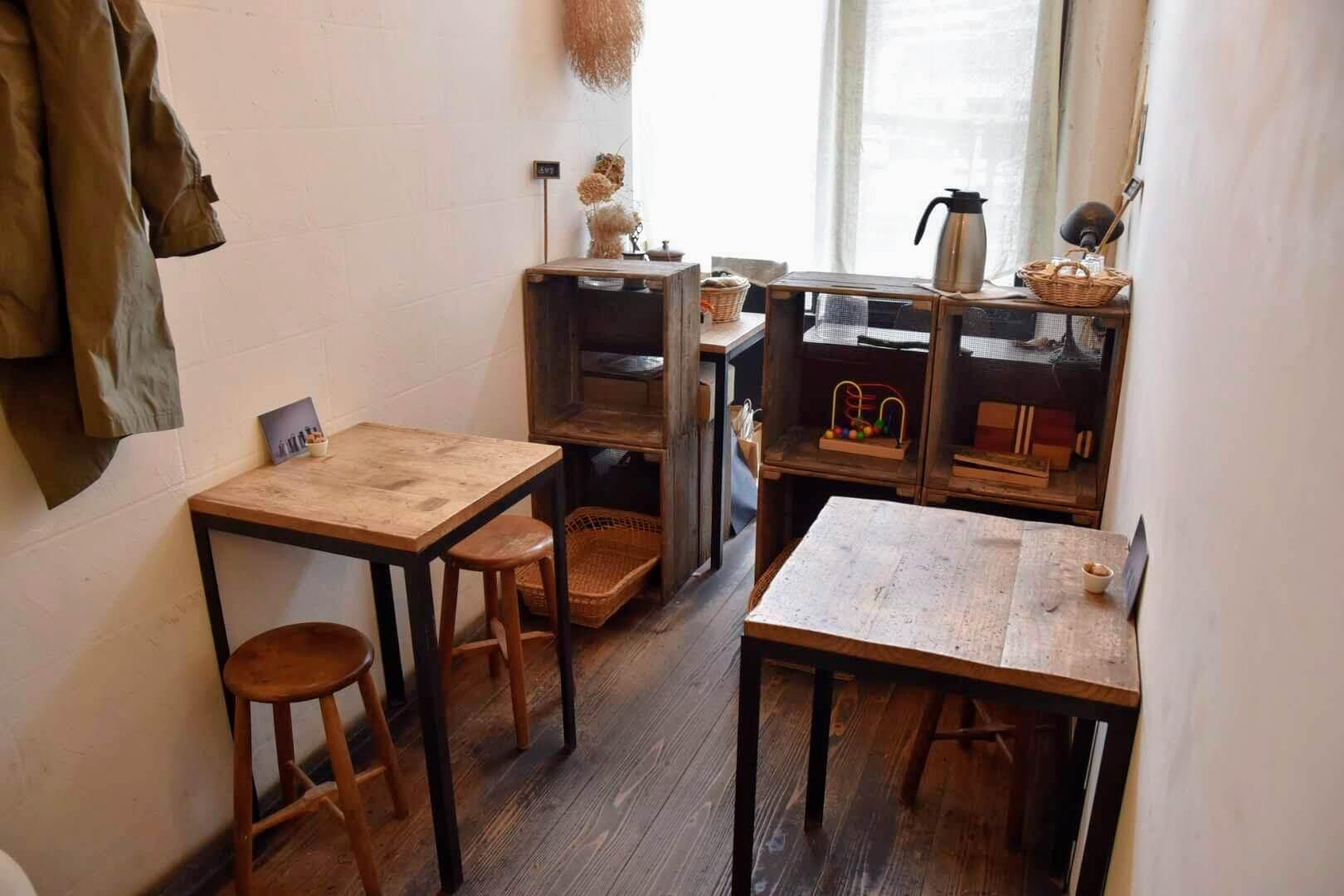 小さなカフェスペース