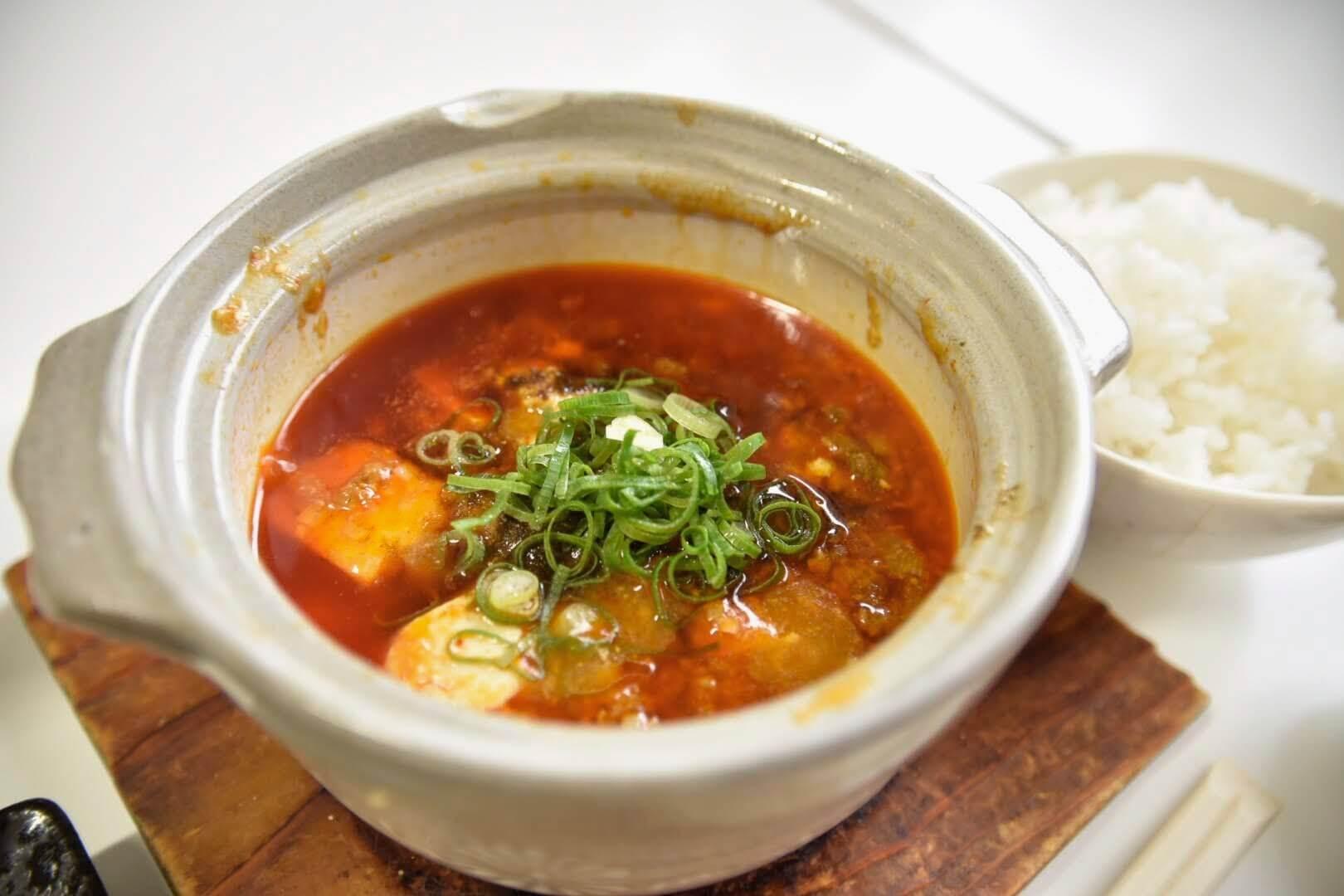 熱々ホクホクの麻婆豆腐
