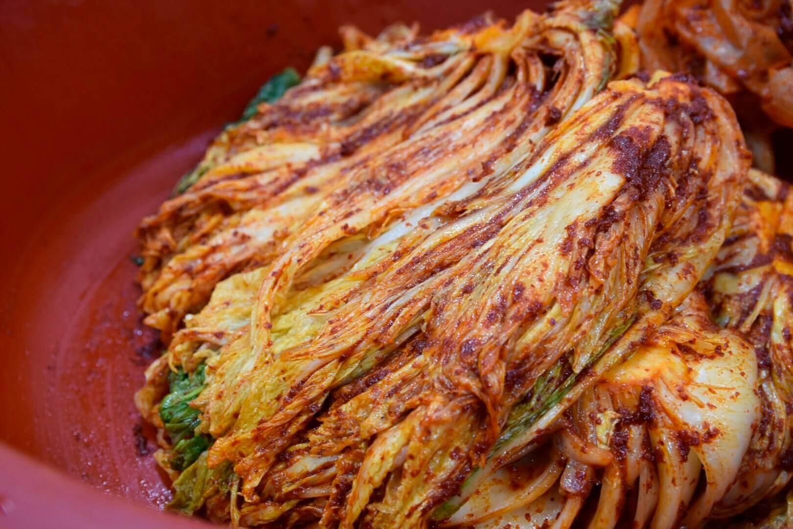 手作り白菜キムチの完成