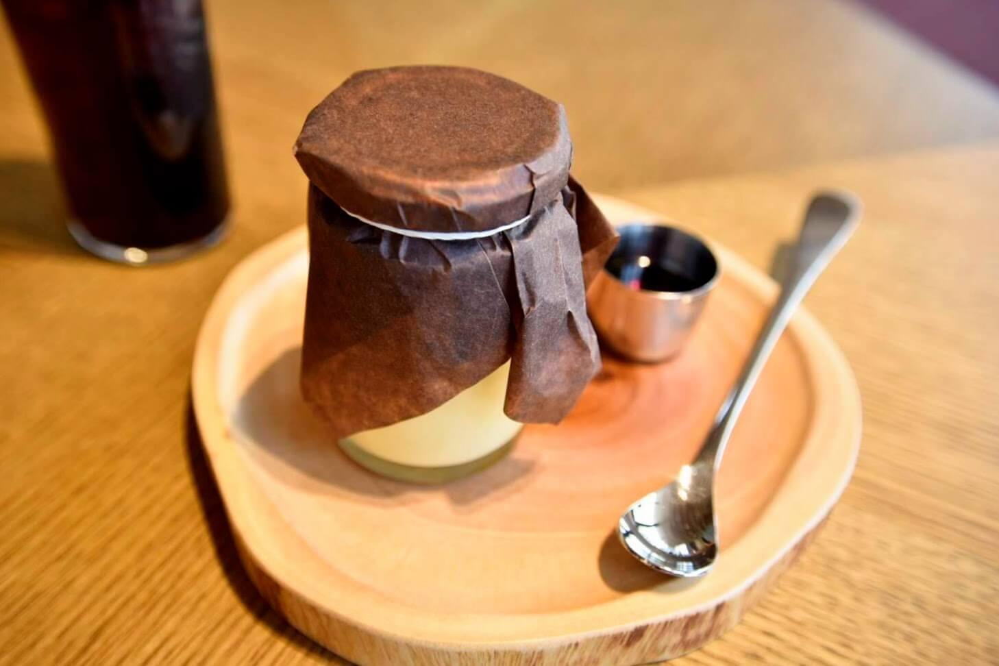 種子島産安納芋とマスカルポーネの焼きいもプリン(420円)
