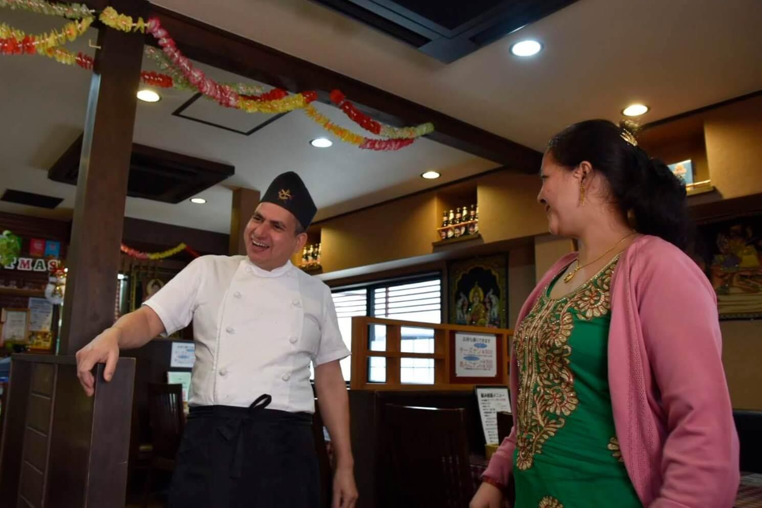 仲良しのネパール人ご夫婦