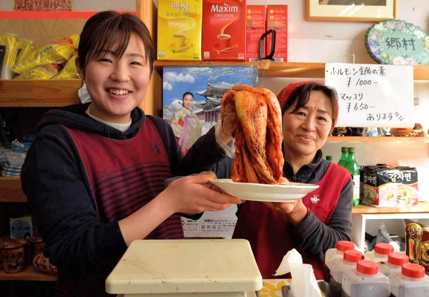 郷村(ヒャンチョン)のオモニと娘さん