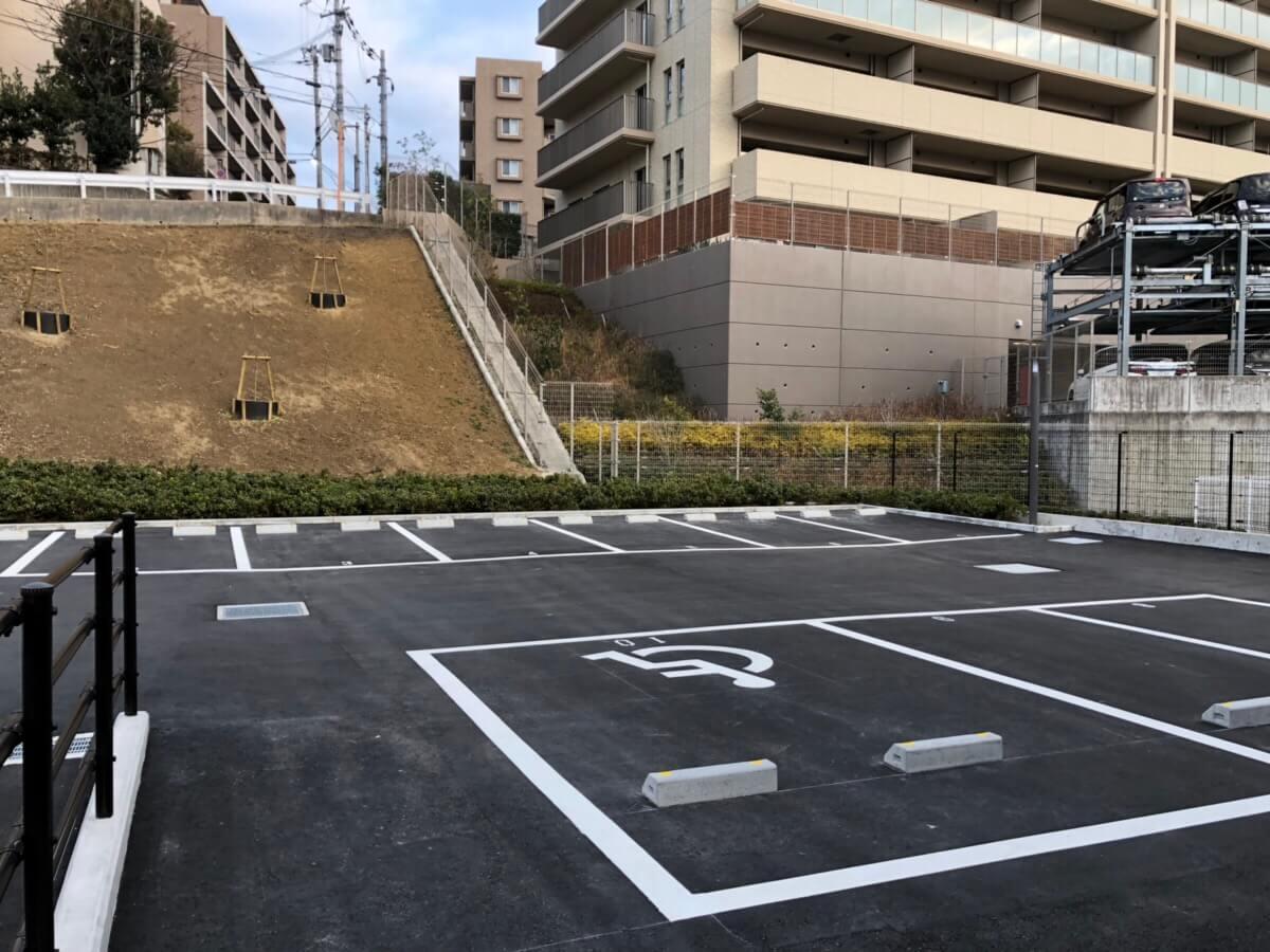 千里山メディカルモールの駐車場(駐輪場)