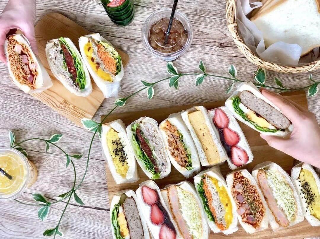 エヌズカフェのサンドイッチ