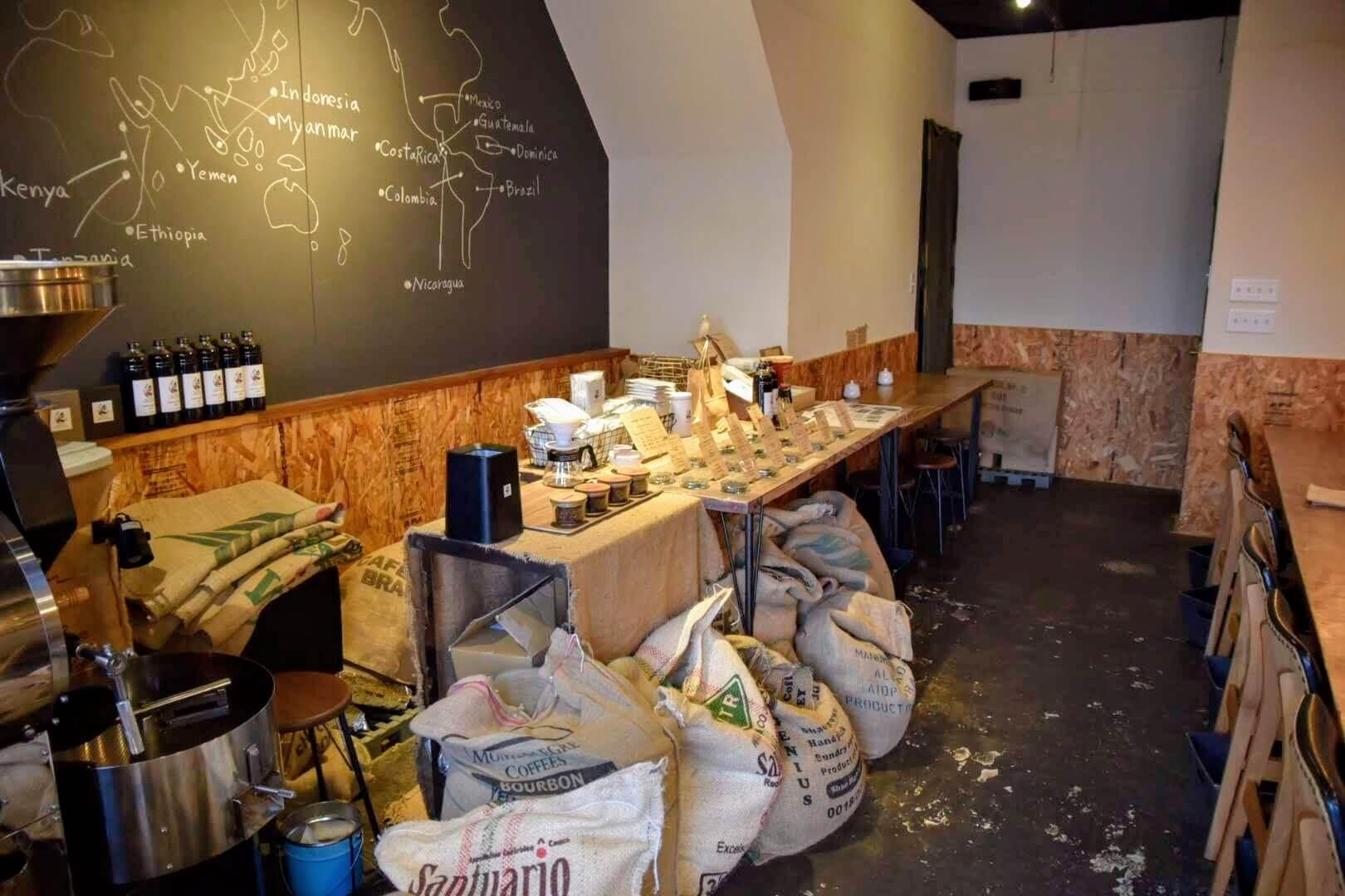 たくさんの種類のコーヒー豆